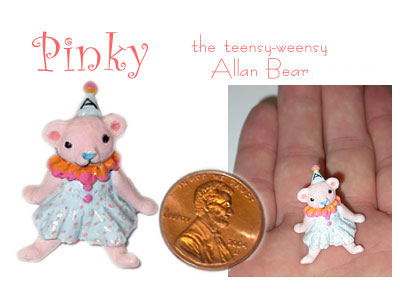 Pinky the teensy weensy Allan Bear
